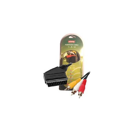 CABLE SCART a 3 RCA Macho