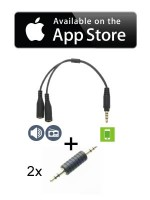 Cable Audio Stereo Splitter + 2 x 3.5mm Stereo Male Male